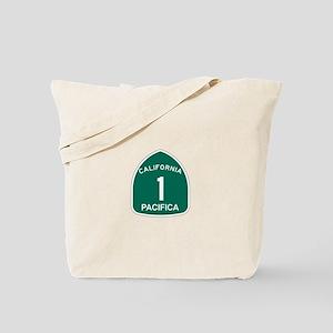 Pacifica, California Highway Tote Bag