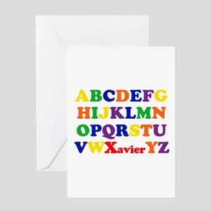 Xavier - Alphabet Greeting Card
