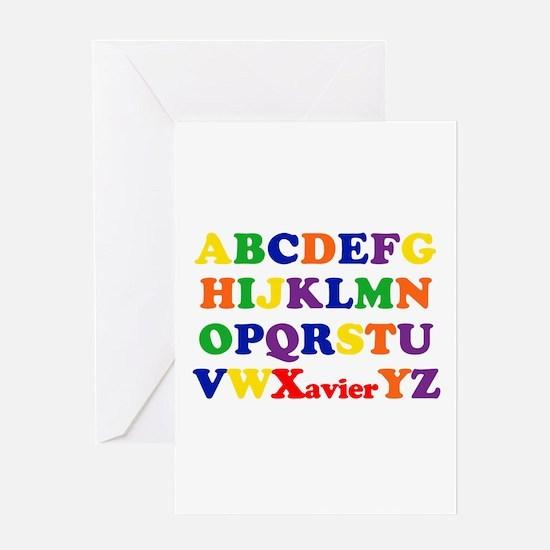Xavier - Alphabet Greeting Card