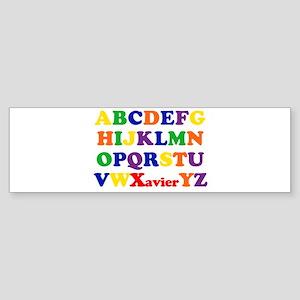 Xavier - Alphabet Bumper Sticker