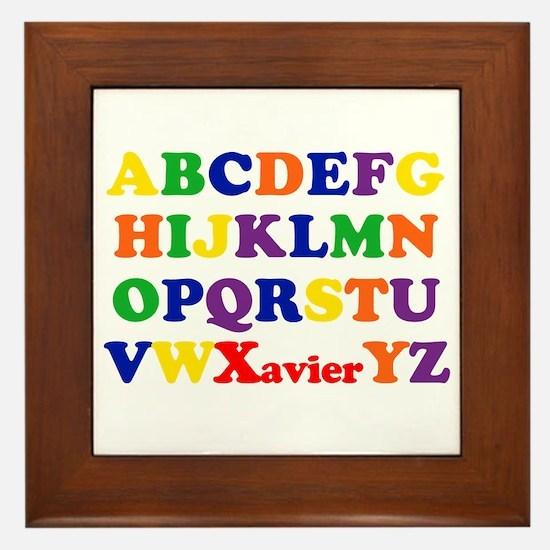 Xavier - Alphabet Framed Tile