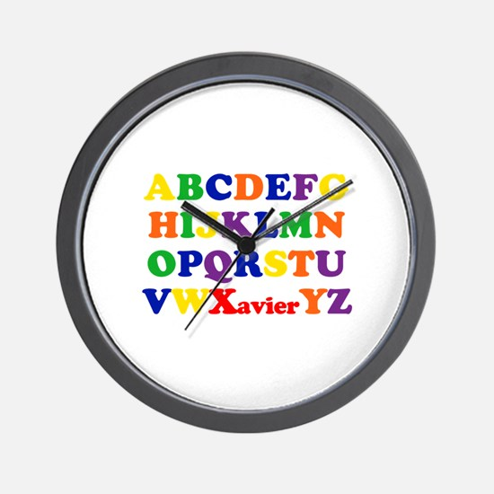 Xavier - Alphabet Wall Clock