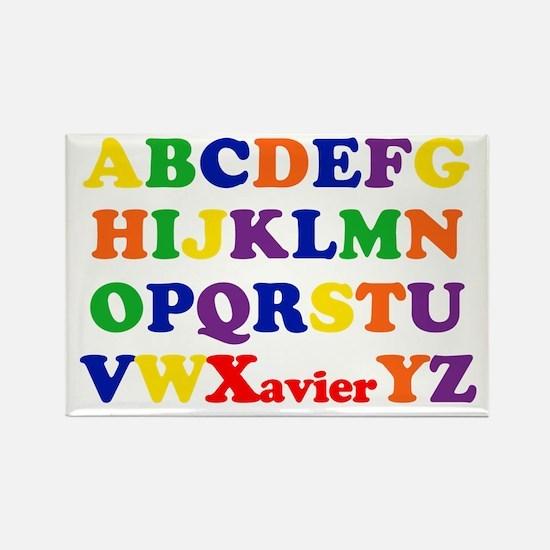 Xavier - Alphabet Rectangle Magnet