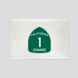 Oxnard, California Highway 1 Rectangle Magnet