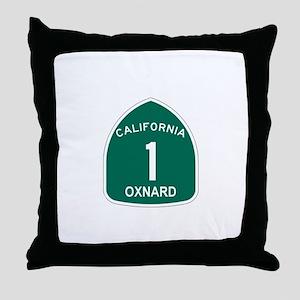 Oxnard, California Highway 1 Throw Pillow