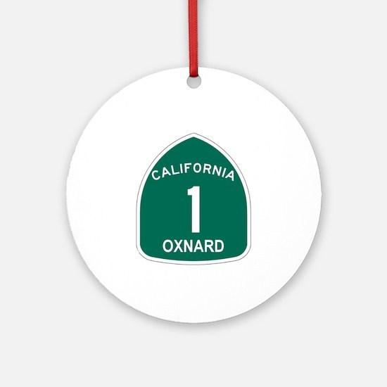 Oxnard, California Highway 1 Ornament (Round)