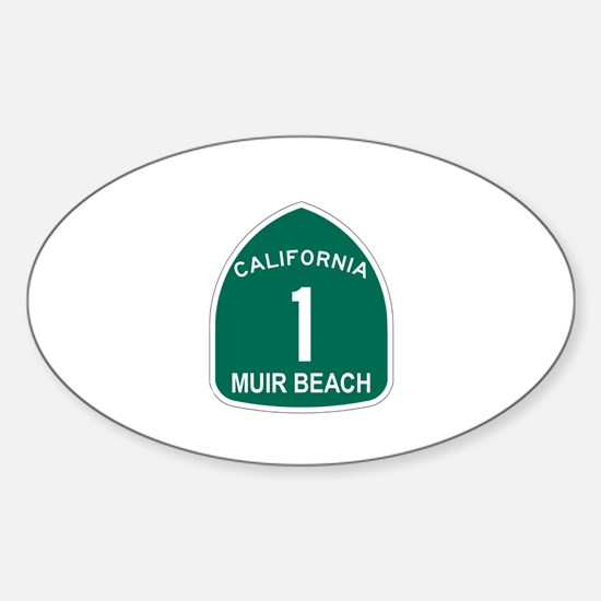 Muir Beach, California Highwa Oval Decal