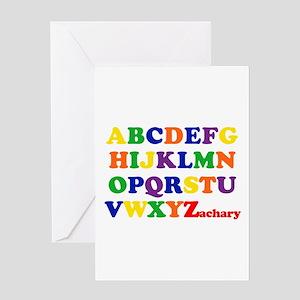 Zachary - Alphabet Greeting Card