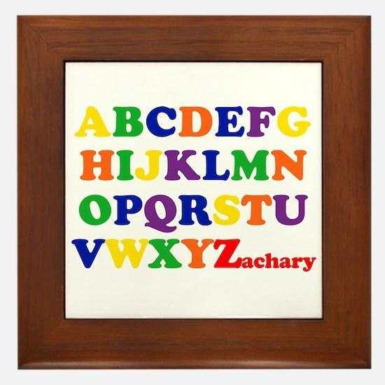 Zachary - Alphabet Framed Tile