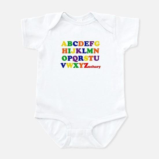 Zachary - Alphabet Infant Bodysuit