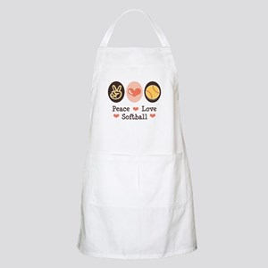 Peace Love Softball BBQ Apron