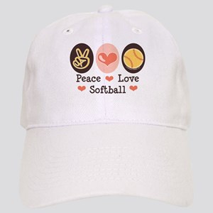 Peace Love Girls Softball Cap