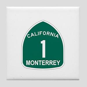 Monterrey, California Highway Tile Coaster