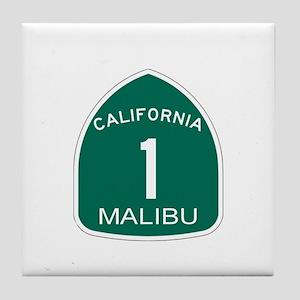 Malibu, California Highway 1 Tile Coaster
