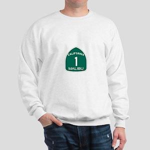 Malibu, California Highway 1 Sweatshirt
