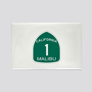 Malibu, California Highway 1 Rectangle Magnet