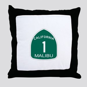 Malibu, California Highway 1 Throw Pillow