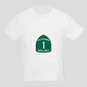 Malibu, California Highway 1 Kids Light T-Shirt