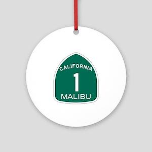 Malibu, California Highway 1 Ornament (Round)