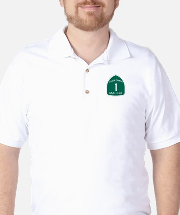 Malibu, California Highway 1 Golf Shirt