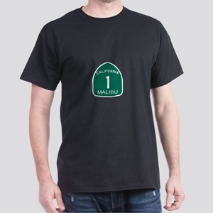Malibu, California Highway 1 Dark T-Shirt