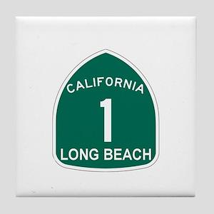 Long Beach, California Highwa Tile Coaster