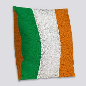 Cracked Italian Flag Burlap Throw Pillow