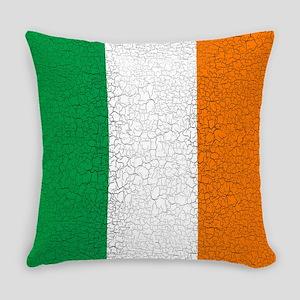 Cracked Italian Flag Everyday Pillow