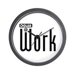 Ogler At Work Wall Clock