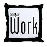 Ogler At Work Throw Pillow