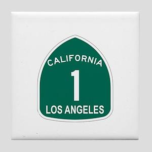 Los Angeles, California Highw Tile Coaster