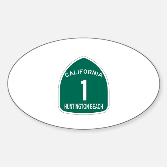 Huntington Beach, California Oval Decal