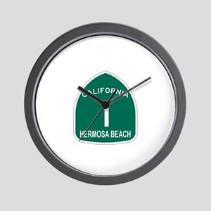 Hermosa Beach, California Hig Wall Clock