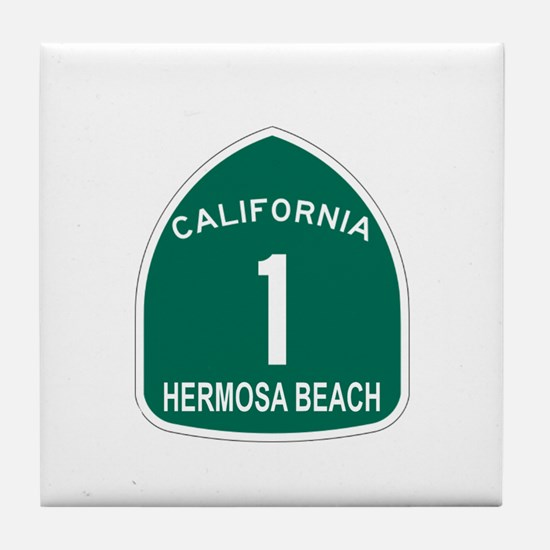 Hermosa Beach, California Hig Tile Coaster