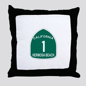 Hermosa Beach, California Hig Throw Pillow
