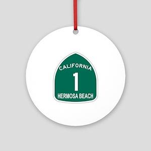 Hermosa Beach, California Hig Ornament (Round)