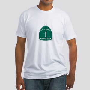 Hermosa Beach, California Hig Fitted T-Shirt
