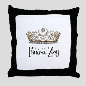 Princess Zoey Throw Pillow