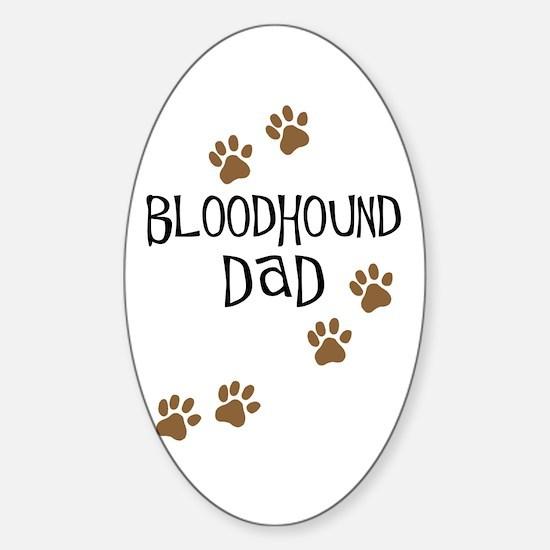 Bloodhound Dad Sticker (Oval)