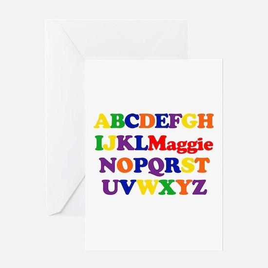 Maggie - Alphabet Greeting Card