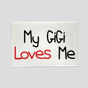 My GiGi Loves Me Rectangle Magnet