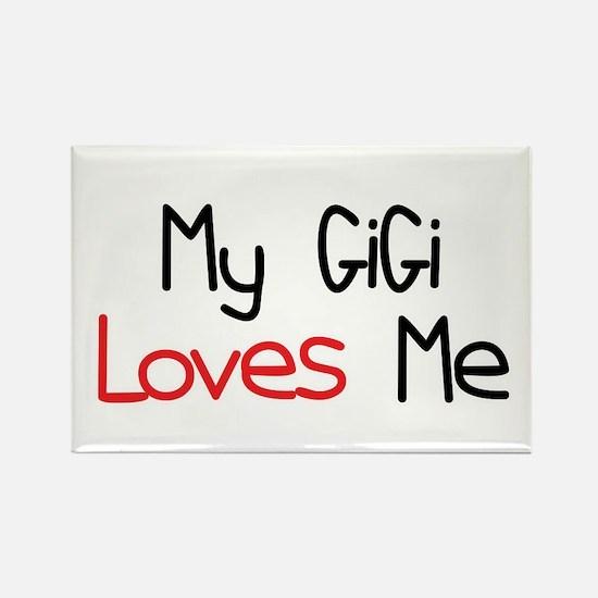 My GiGi Loves Me Rectangle Magnet