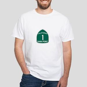 Dana Point, California Highwa White T-Shirt
