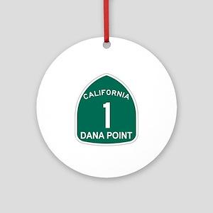 Dana Point, California Highwa Ornament (Round)