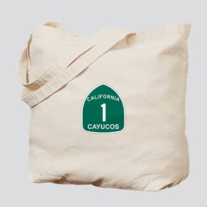 Cayucos, California Highway 1 Tote Bag