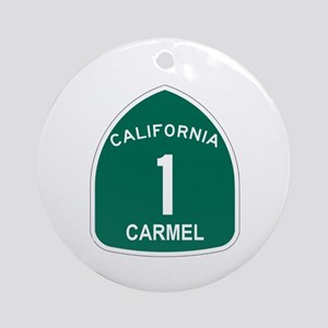 Carmel, California Highway 1 Ornament (Round)