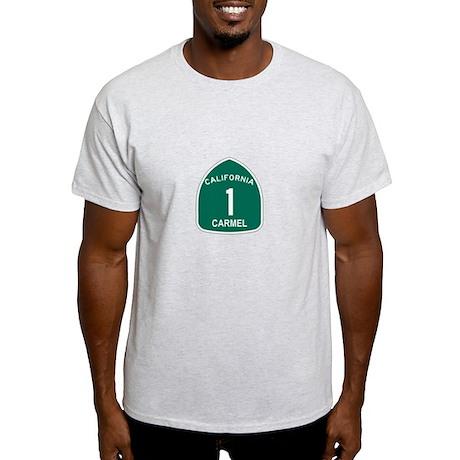 Carmel, California Highway 1 Light T-Shirt
