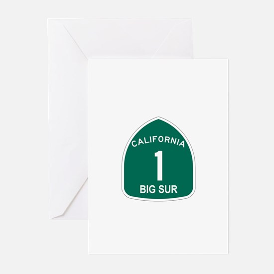 Big Sur, California Highway 1 Greeting Cards (Pk o