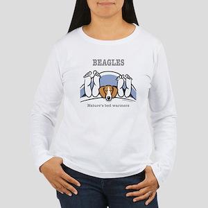 Beagle bed warmers Women's Long Sleeve T-Shirt