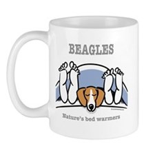 Beagle bed warmers Mug
